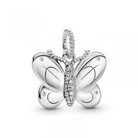 Pandora colgante Mariposa en plata