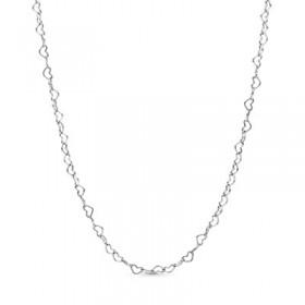 Pandora cadena Corazones Conectados en plata
