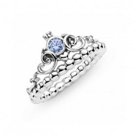 Pandora anillo Corona Azul de Cenicienta