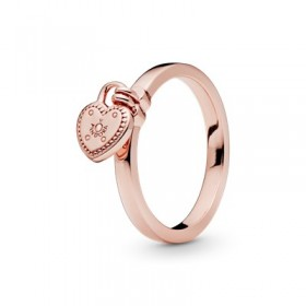 Pandora Rose anillo Candado de Amor