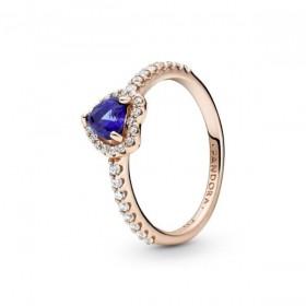 Pandora Rose anillo Corazón Azul Brillante