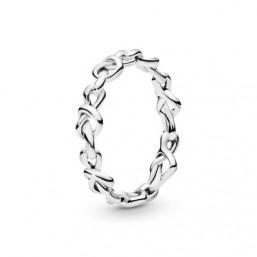 Pandora anillo Corazones Anudados en plata