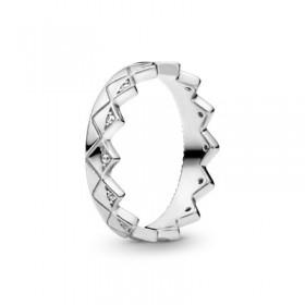 Pandora anillo Corona Exótica en plata
