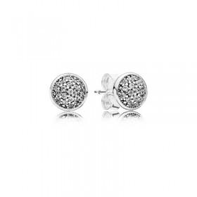 Pandora pendientes Gotas Deslumbrantes en plata