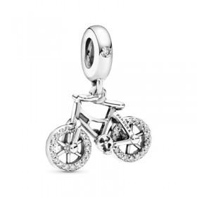 Pandora charm colgante Bicicleta Brillante