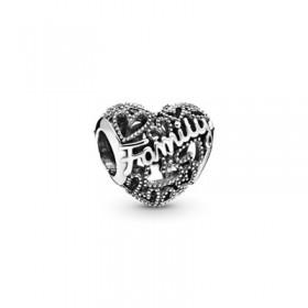 Pandora charm Corazón de Familia