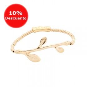 Uno de 50 pulsera elástica chapada en oro