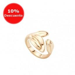 """Uno de 50 """"Hojas"""" anillo abierto chapado en oro"""
