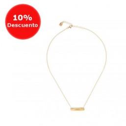 """Uno de 50 collar corto """"Dame amor"""" chapado en oro"""