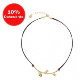 """Uno de 50 collar """"Enredadera"""" bañado en oro"""