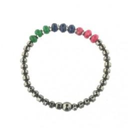 Pulsera elástica de mujer con piedras naturales de colores
