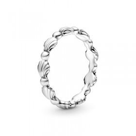 """Pandora anillo """"Banda Concha Marina"""" en plata"""