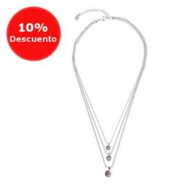"Uno de 50 collar corto de mujer ""Red Two"""